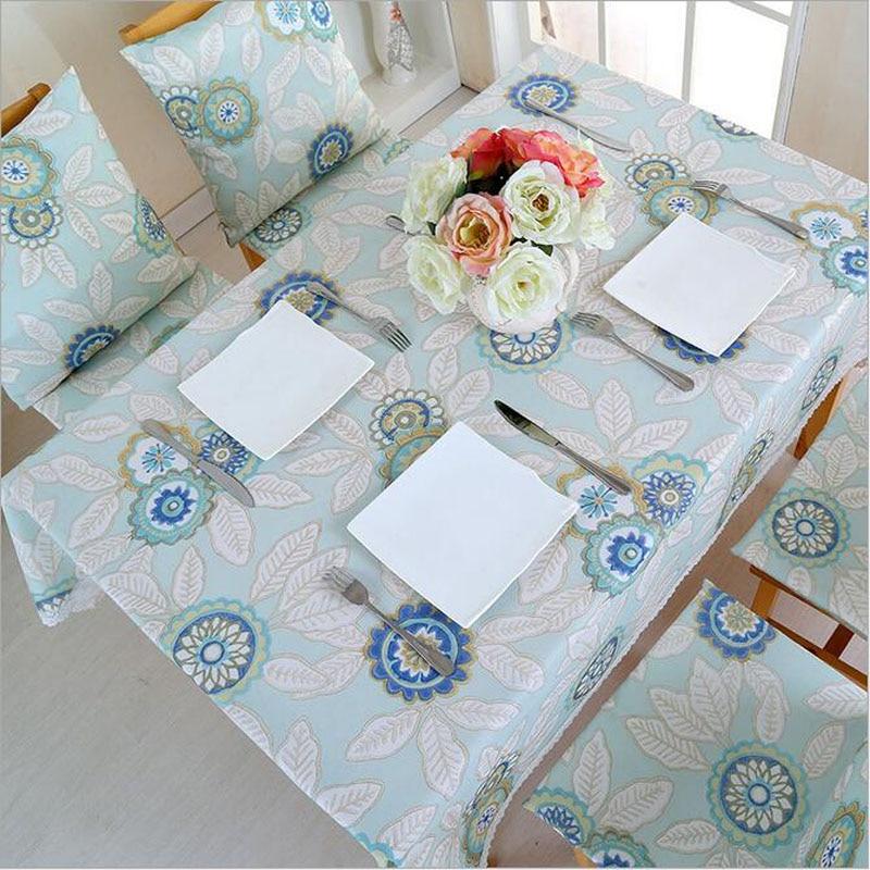 Mantel de mesa de calidad más grueso impermeable flor Rural mantel de comedor de algodón Lino Rectangular cubierta de mesa de té de encaje textil para el hogar