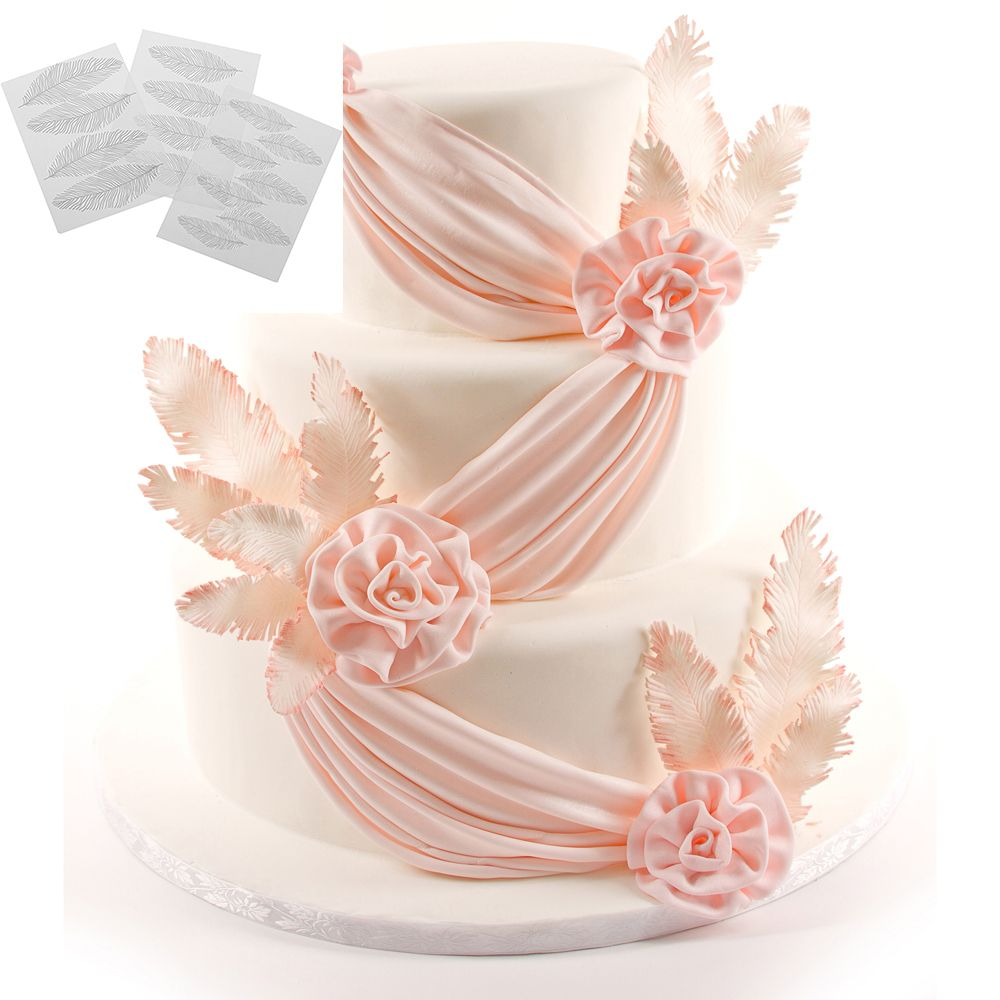 3 uds 3D molde de pastel de chocolate Fondant de silicona utensilios para hornear Pavo Real molde de plumas Decoración