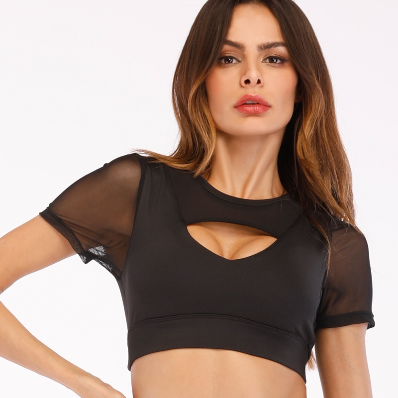 Sujetador deportivo sin costuras VVUES transparente, Sexy, para Yoga, para chicas, gimnasio, correr, correr, sujetador para mujeres, Top Drop Ship 2019 nuevo
