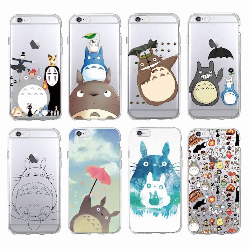Mignon Totoro virevolté loin Ghibli Miyazaki Anime Kaonashi étui de téléphone souple pour iPhone 12 11 Max 7 7plus 6 6S 6plus 5S X XS Max