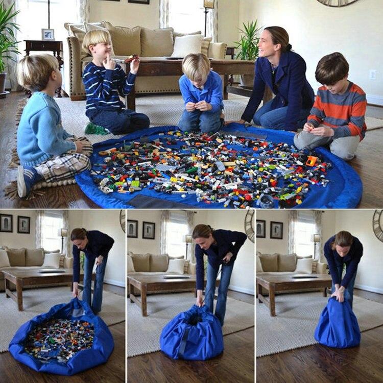 Multifunction Portable Kids Toys Storage Bags for Legoed Blocks Toys Play Mat Building Blocks Toys Bags for Children Toys Bags