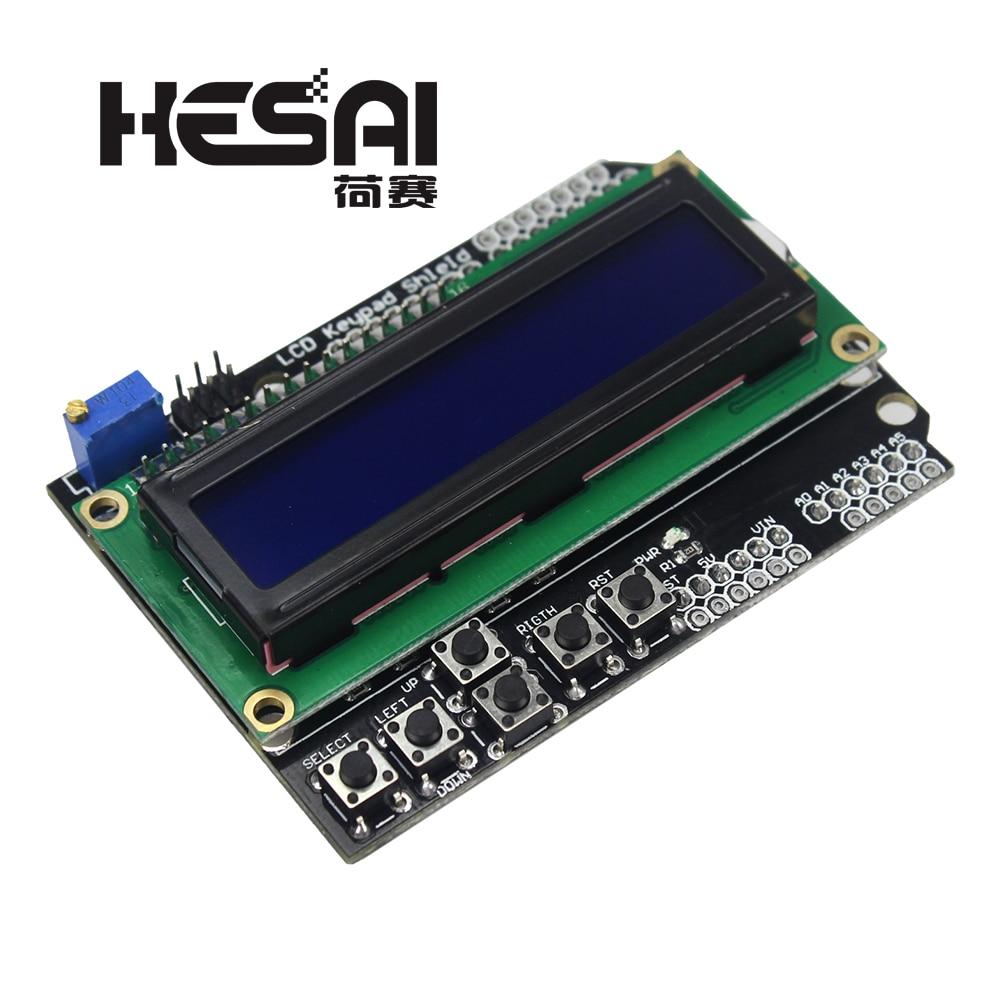 LCD Keypad Shield LCD1602 LCD 1602 Blue Screen Module Display for arduino Diy Kit