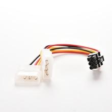 New 15cm 2 IDE Dual 4pin Molex IDE Male To 6 Pin Female PCI-E Y Molex IDE Power Video Cards Cable Ad