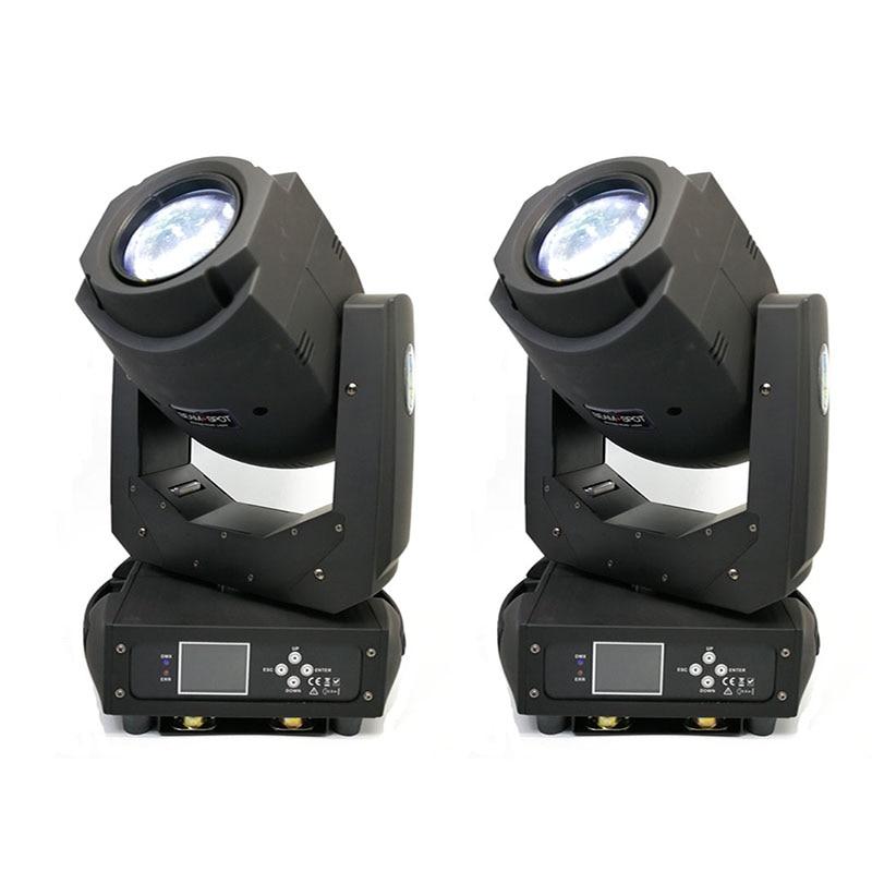 2 unids/lote de equipos de iluminación de escenario 200W haz Spot 2 en 1 LED luces con cabezales móviles pantalla LCD con 8 Gobos estáticos