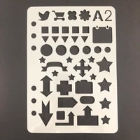 a5 loose leaf bullet journal stencil to do list square circle triangle star arrow sign hollow for diary planners office supplies