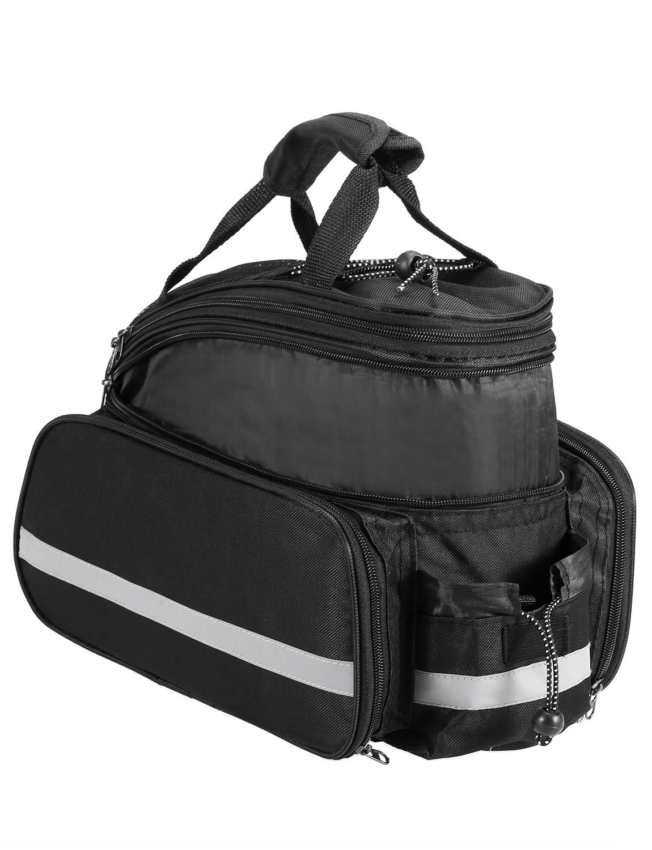 Lixada 25L Bicycle Rear Seat Bag Multifunction Expandable Waterproof MTB Bicycle Pannier Bag Bike Rack Bag With Rain Cover
