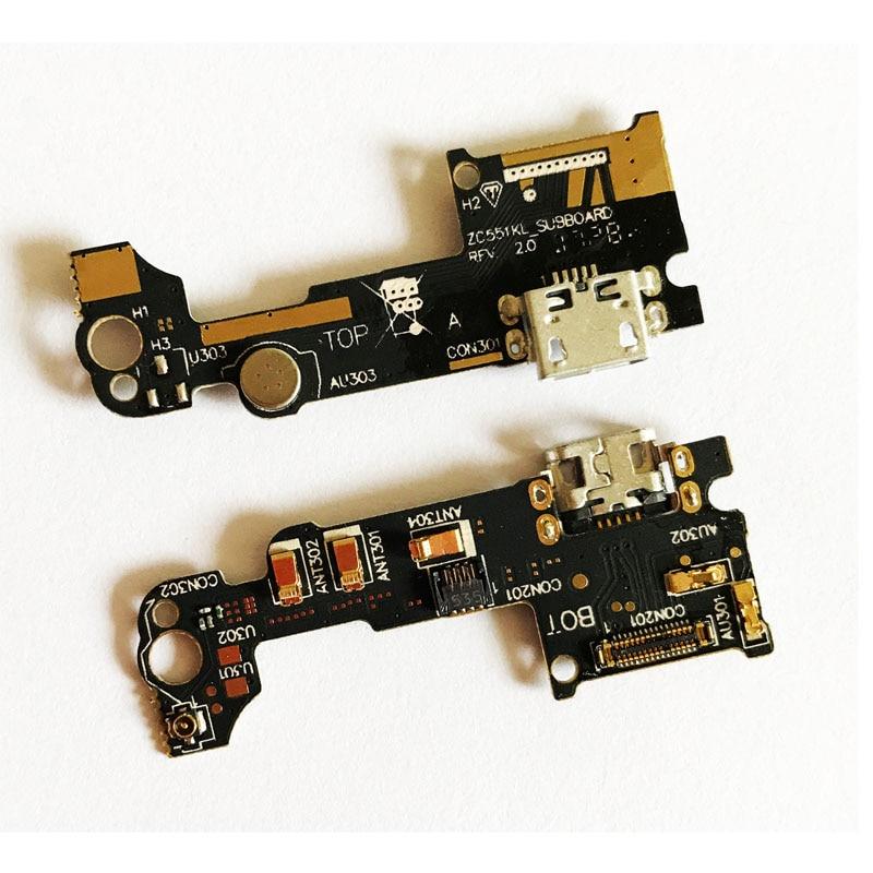 20 Pcs/Lot ,New USB Charging Dock Port Contector  Mic Microphone Board Flex Ribbon Cable For Asus Zenfone 3 Laser ZC551KL