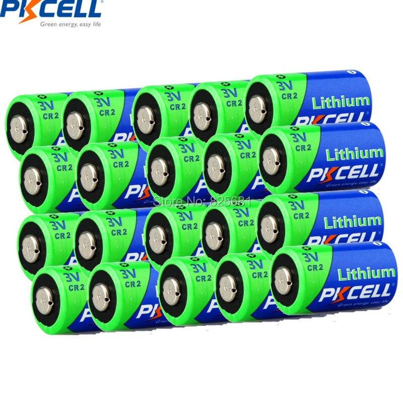 20 piezas PKCELL CR2 15270 CR15H270 3V 850mAh Batería primaria de litio Baterías no recargables