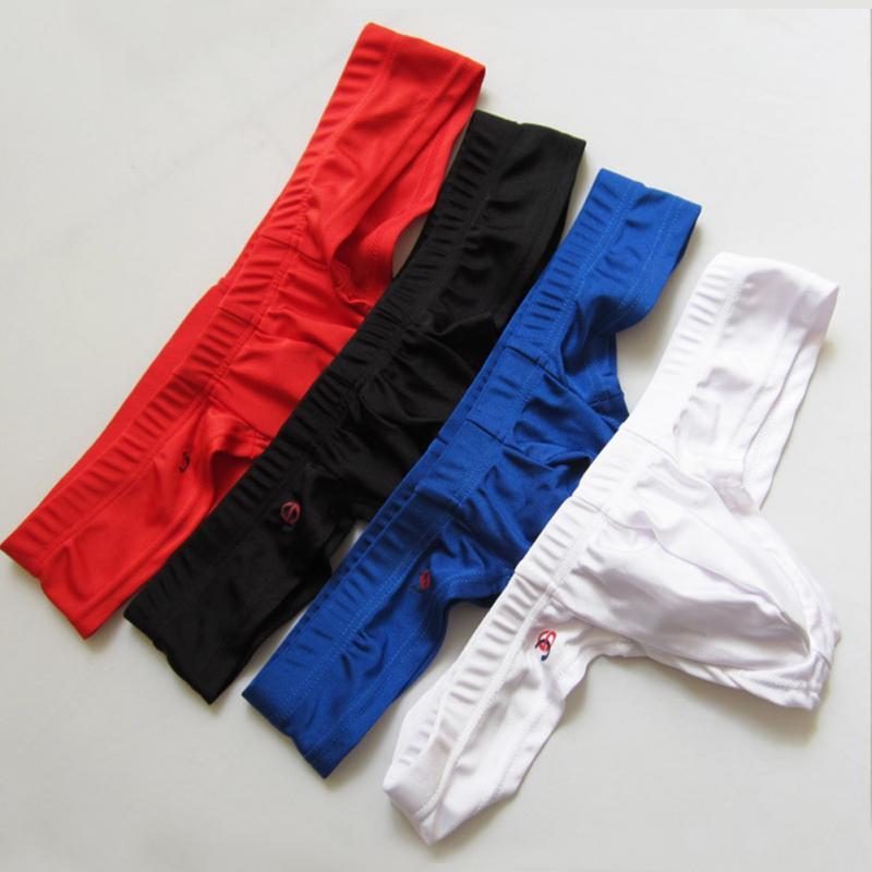 Para los hombres U diseño convexo transpirable ropa interior de cintura baja Sexy ropa interior elasticidad suave y cómoda