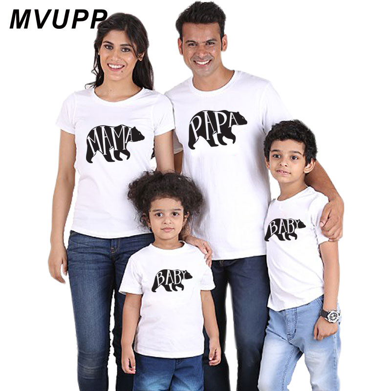 family matching clothes daddy mommy and me baby girl novelty mother daughter clothing polar bear pri
