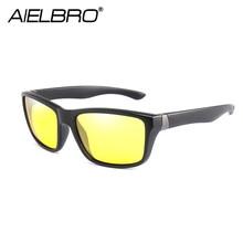 Hommes lunettes pilotes de voiture lunettes de Vision nocturne polarisées UV400 lunettes de soleil hommes cyclisme conduite lunettes de soleil rétro gafas de sol
