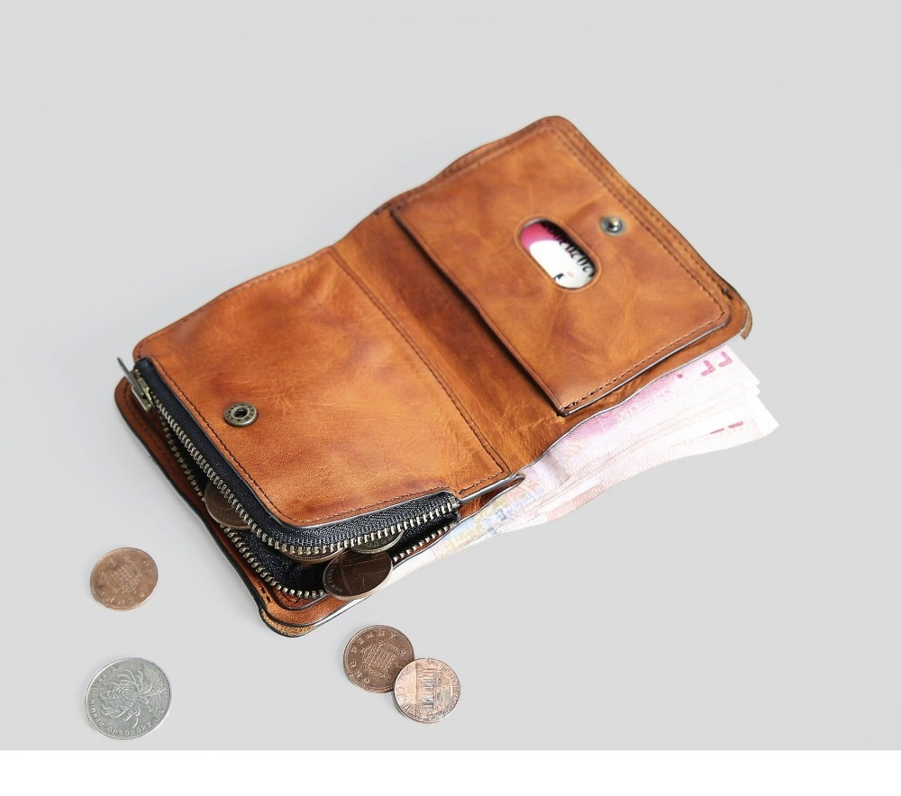 SIKU men's leather wallet case fashion men wallets brand coin purse holder male wallet
