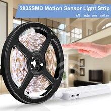 1M 2M 3M Wireless Motion Sensor LED Night Light PIR LED Strip Lamp Bed Cabinet Wardrobe Stairs Light TV Backlight Lighting 2835