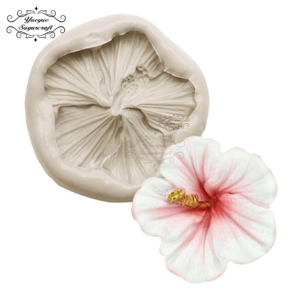 Yueyue Sugarcraft мини-розовый цветок силиконовая форма для торта помадная форма инструменты для украшения торта Форма для шоколадной мастики рези...