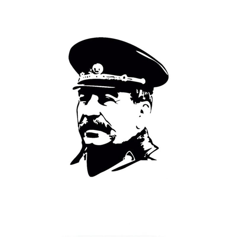 Etiqueta do carro 15*10.8 CM URSS Stalin no Uniforme Decalque Do Carro Reflexivo Adesivos de Carro de Vinil Estilo Do Carro Do Laser 3D preto Prata