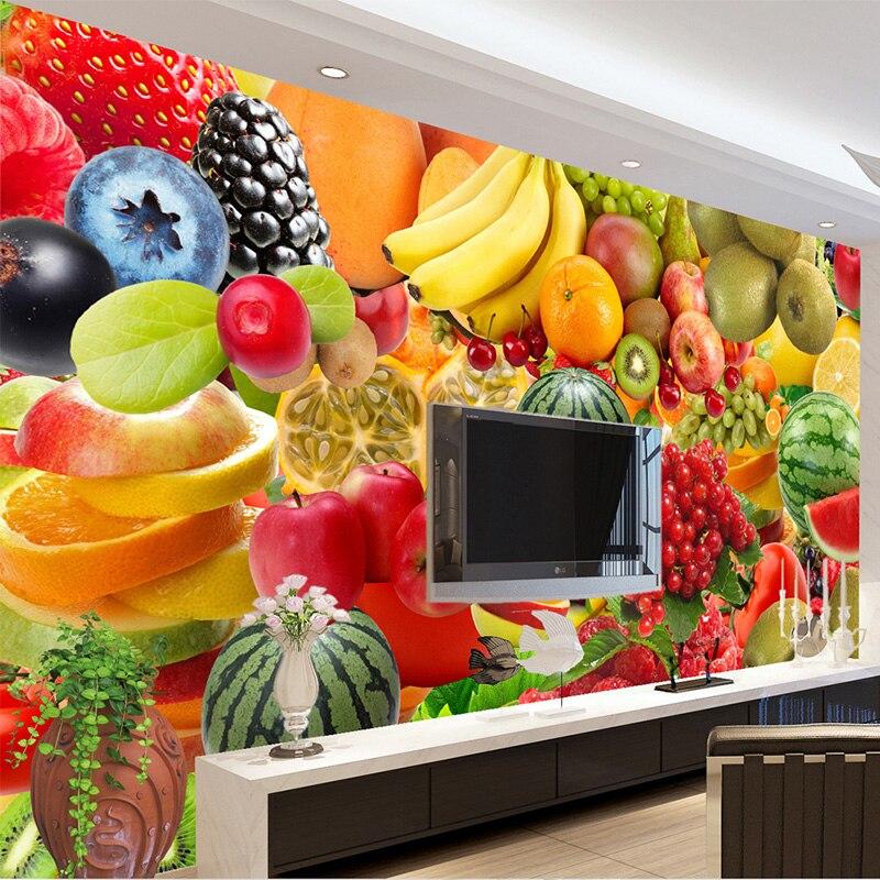 Настенная бумага любого размера на заказ, современный 3d-фон для фотосъемки фруктов в стиле модерн, для кухни, магазина, декор для стен