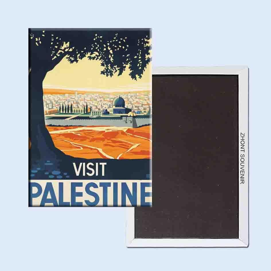 Besuchen Palästina 24182 Retro nostalgischen kühlschrank magneten