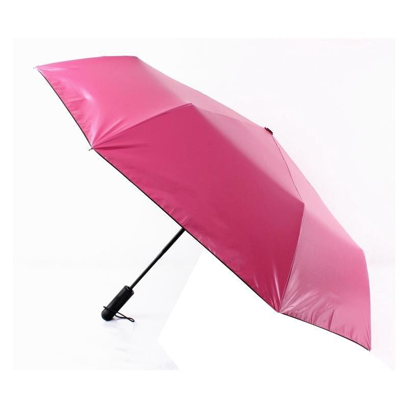 Full automatic umbrella three folding male female parasol Umbrella mini rain women Windproof Anti-UV umbrela