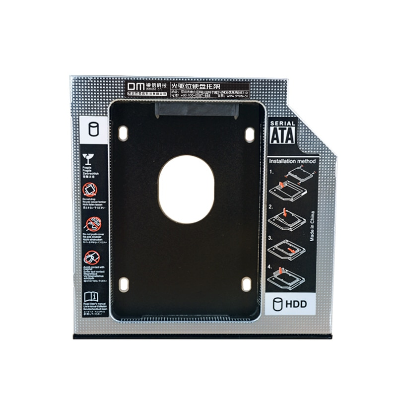 DM DW95S HDD Caddy 9.5mm Aluminum Optibay SATA 3.0 Hard Disk Drive Box Enclosure DVD Adapter 2.5 SSD