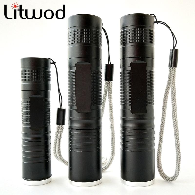 L2 Led mini Flashlight 1000 Lumens Led flash light  Zoomable Waterproof Tactical Flashlight Camping Hiking use 18650