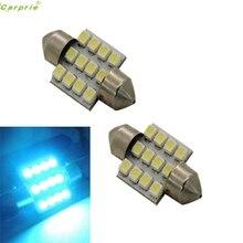 2x Aqua Blue 31mm-SMD DE3175 De3022 LED Per Auto luce SZ0306 * 1.1