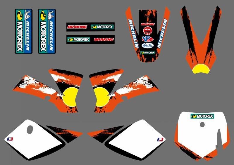 Pegatinas de equipo de nuevo estilo, 0251, conjunto gráfico para KTM SX 50 2009 2010 2011 2012 2013