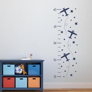 Baby Nursery Growth Chart Wall Decal,  Airplane Growth Chart Wall Stickers For Kids Rooms, Children Room House Decoration, N61