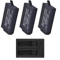 Clownfish 2720mAh for Gopro Fusion battery 3way USB 2 Slots Battery Charger for GoPro Fusion 360Degree Action Camera Accessories