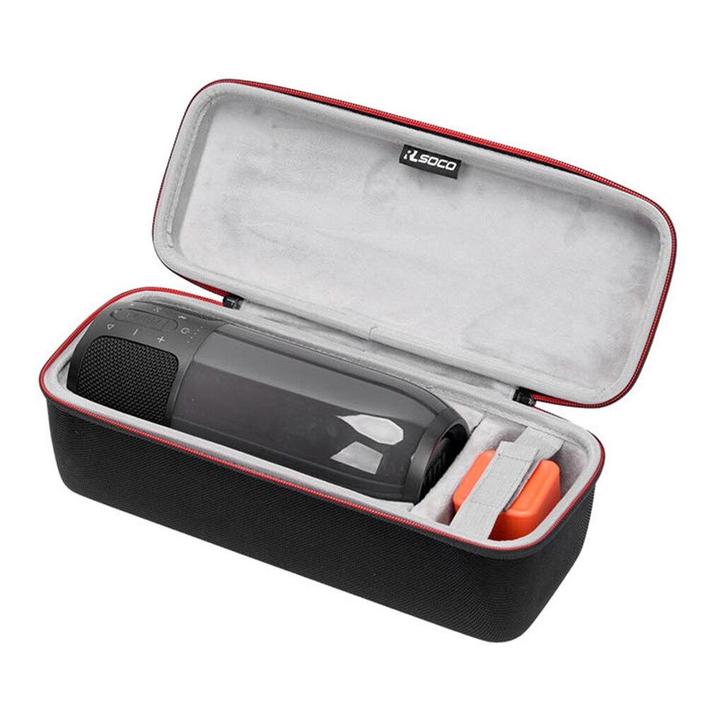 Mais recente de EVA PU Carry Falante Caixa Protetora Caso Saco Bolsa Para JBL Pulso 3 Pulse3 Bluetooth Alto-Falante de Espaço Extra para Plug & Cabo