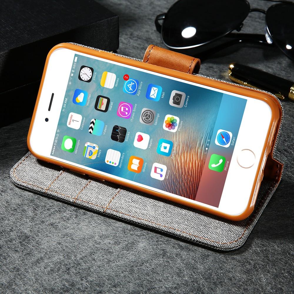 Kisscase stań portfel przerzuć przypadki dla iphone 6 6s 7 5 5S mody hit kolor slot kart skóra pokrywa dla iphone 7 6 s plus z logo 45