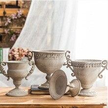 Hause vase Kreative Idyllischen retro Distressed vase sukkulenten pflanzen Pflanze blume topf Persönlichkeit dekoration home dekoration eisen