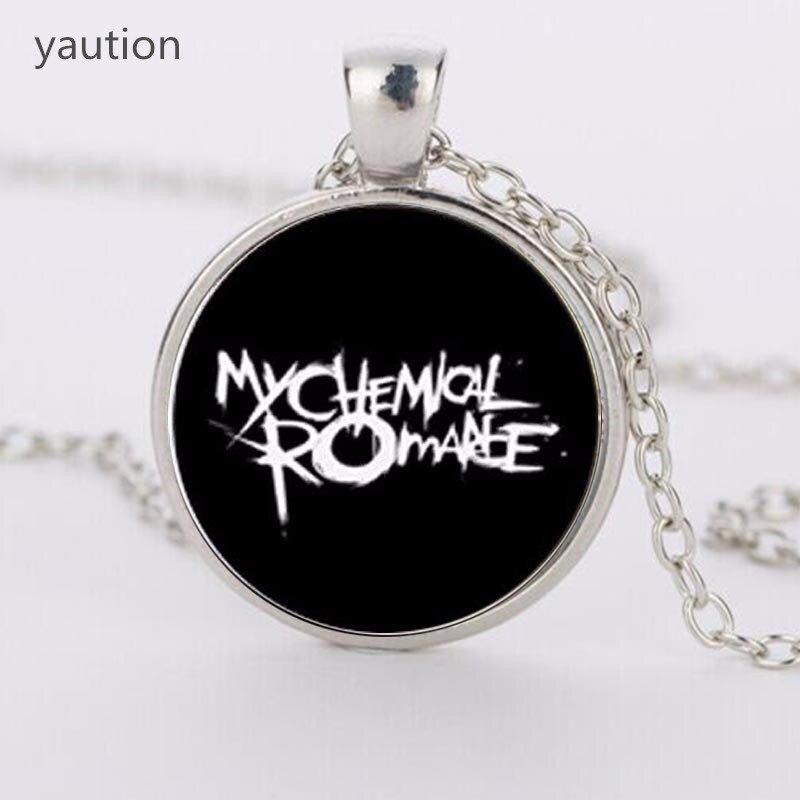 Nuevo collar de cristal imagen banda de Rock My Chemical Romance zinc aleación Collares con colgantes de cristal collares para mujeres