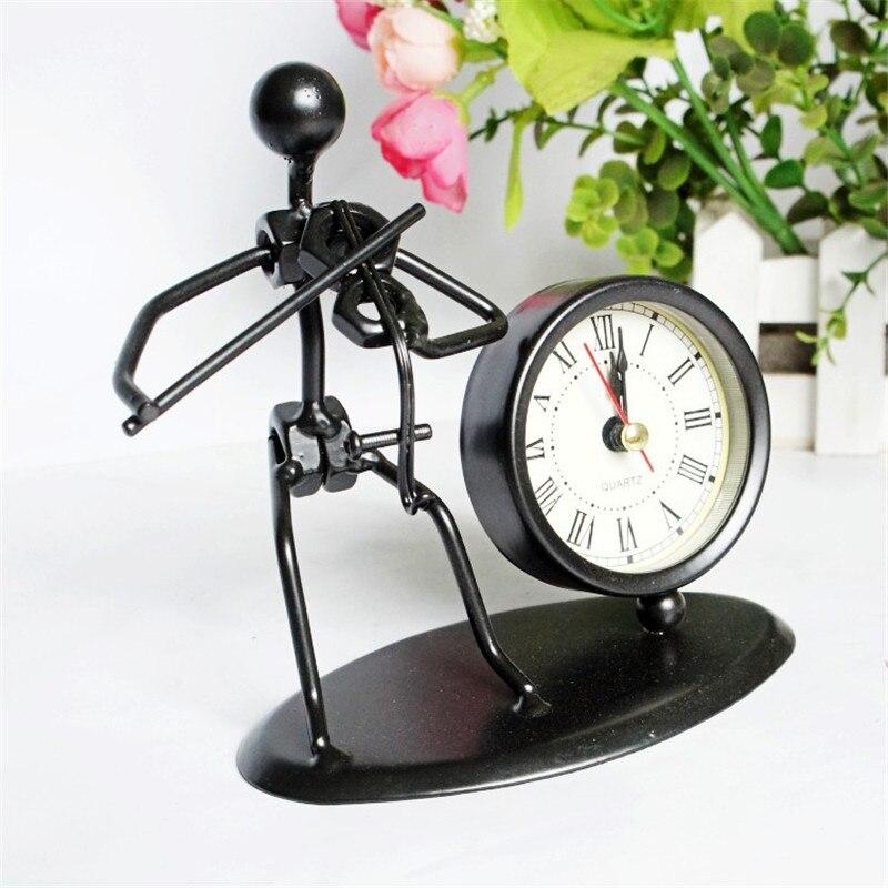 Reloj de mesa de cuarzo moderno reloj despertador electrónico pantalla artefacto de escritorio decoración del hogar artesanía Relo Iron Man instrumento cubo reloj