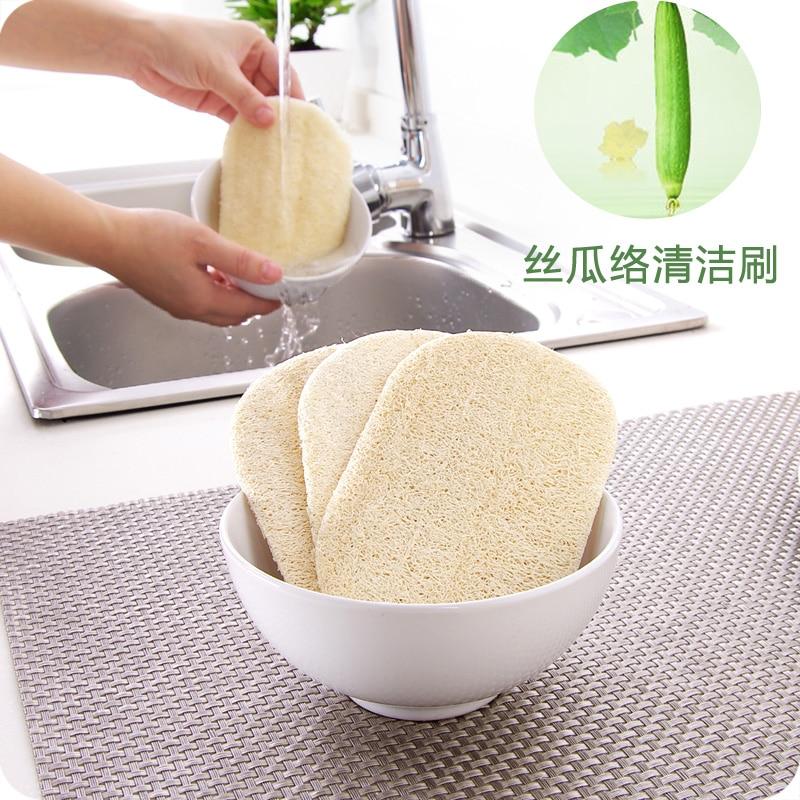 5 шт. натуральная моющая ткань для мытья посуды обеззараживание кухни антипригарная масляная щетка горшок Двусторонняя Чистка микрофибра губка
