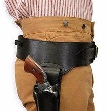 Mens Right Hand Plain Leather Western Gun Belt Holster .38/.357 cal.