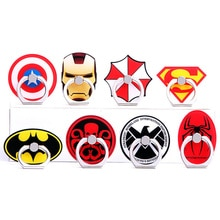 Hot Sales Universal Metal  cute mobile phone holder Stand rings Ring Cool Cartoon Superman Captain America Iron Man Holder