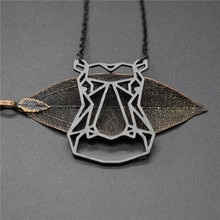 4 Colors New Hippo Necklace Hippopotamus Jewelry Animal Necklace Geometric Necklace Wild Animal Jewelry Zoo Jewelry