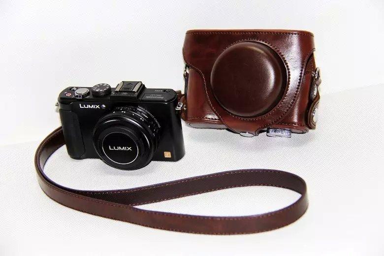 Bolsa protectora para cámara, funda protectora para Panasonic Lumix DMC LX5 LX7 LX3 Coffee New