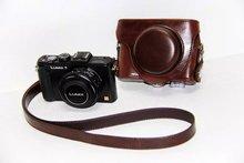 Housse de protection pour appareil photo pour Panasonic Lumix DMC LX5 LX7 LX3 café neuf