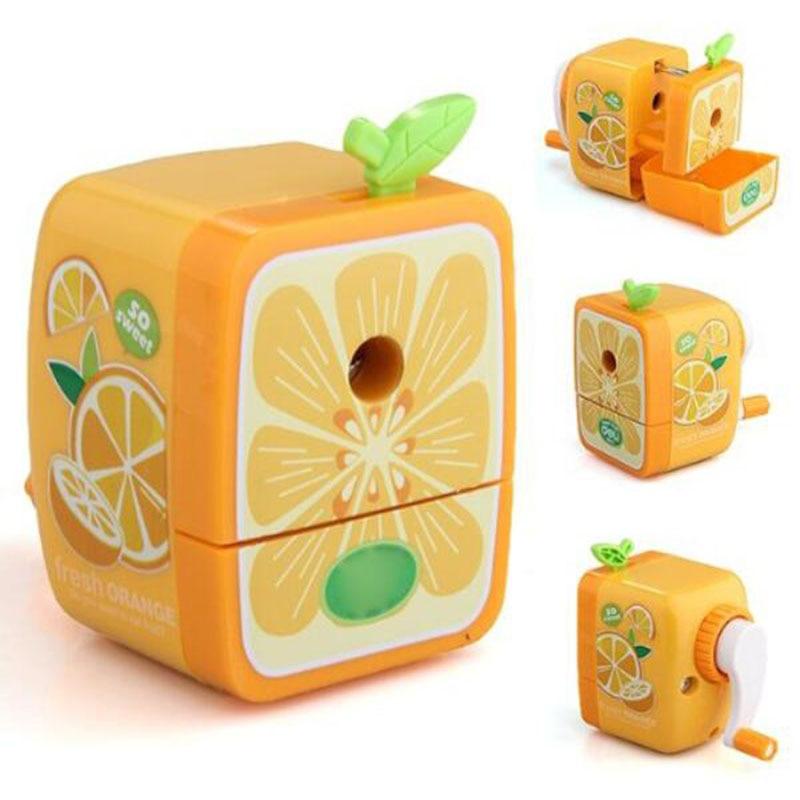 1pc Manual Pencil Sharpener Cute Cartoon Fruit Shape Pencil Sharpener Children Student Stationery School Office Supplies