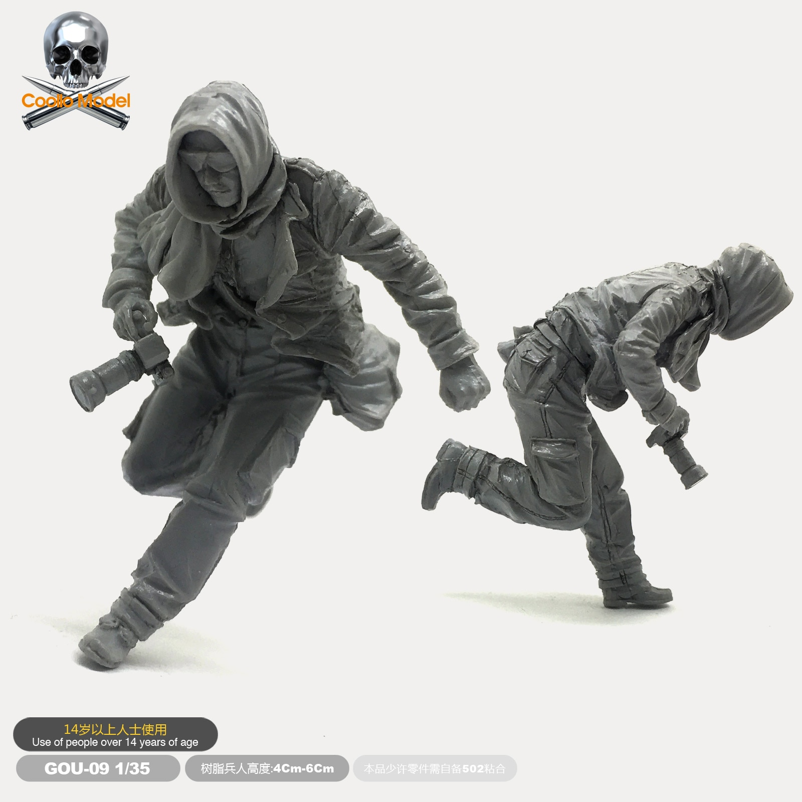 1/35 Resin Figure Soldier Model Kits  Iraqi Field Journalist Gou-09