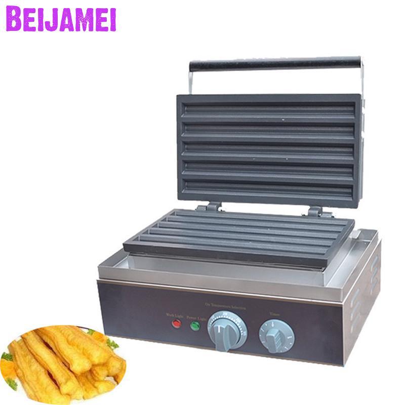 Productos de venta al por mayor de BEIJAMEI, máquina de fabricación de grilla eléctrica de 5 grillas, máquina de fabricación de waffles 110 v 220 v