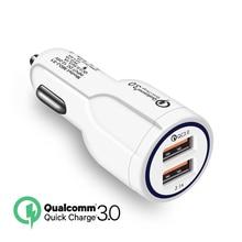 Caricabatteria da auto Quick Charge 3.0 per telefono cellulare caricatore da auto doppio Usb Qualcomm Qc 3.0 adattatore di ricarica rapida caricatore da auto Mini Usb