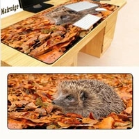 mairuige colorful hedgehog lock edge gaming soft mat pads for pc optical mouse laser mice large mouse pads for 9004002mm