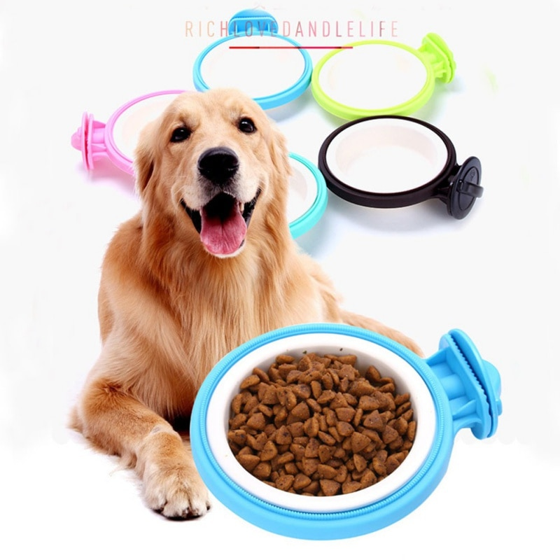 Cuenco para perros, cuenco de agua colgante extraíble, jaula para perros, gatos, pájaros, animales pequeños, jaula para mascotas, Bol colgante