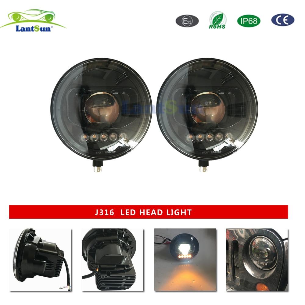 Faro de 7 pulgadas 100w productos para automóviles, lámpara led de aleación de aluminio para jeep wrangler jk 2007-2017 j316 Lantsun