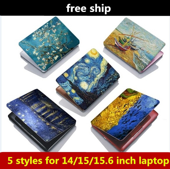 15 pulgadas Van Gogh noche estrellada pintura al óleo laptop skins cubierta pegatinas