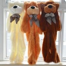 "Free shipping 200cm/79"" inch giant big Semi-finished teddy bear bearskin coat shell skins purple animals kid baby plush toys"