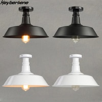 LED Ceiling Lights Industrial Decor Simple Iron LED Ceiling Lamps Luminaria For Living Room Bar Restaurant Loft Lamparas Vintage