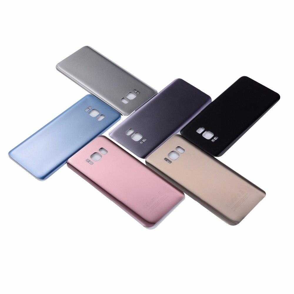 Para Samsung Galaxy S8 G950 cubierta de batería trasera de vidrio carcasa para Samsung Galaxy S8 Plus S8 + G955 contraportada